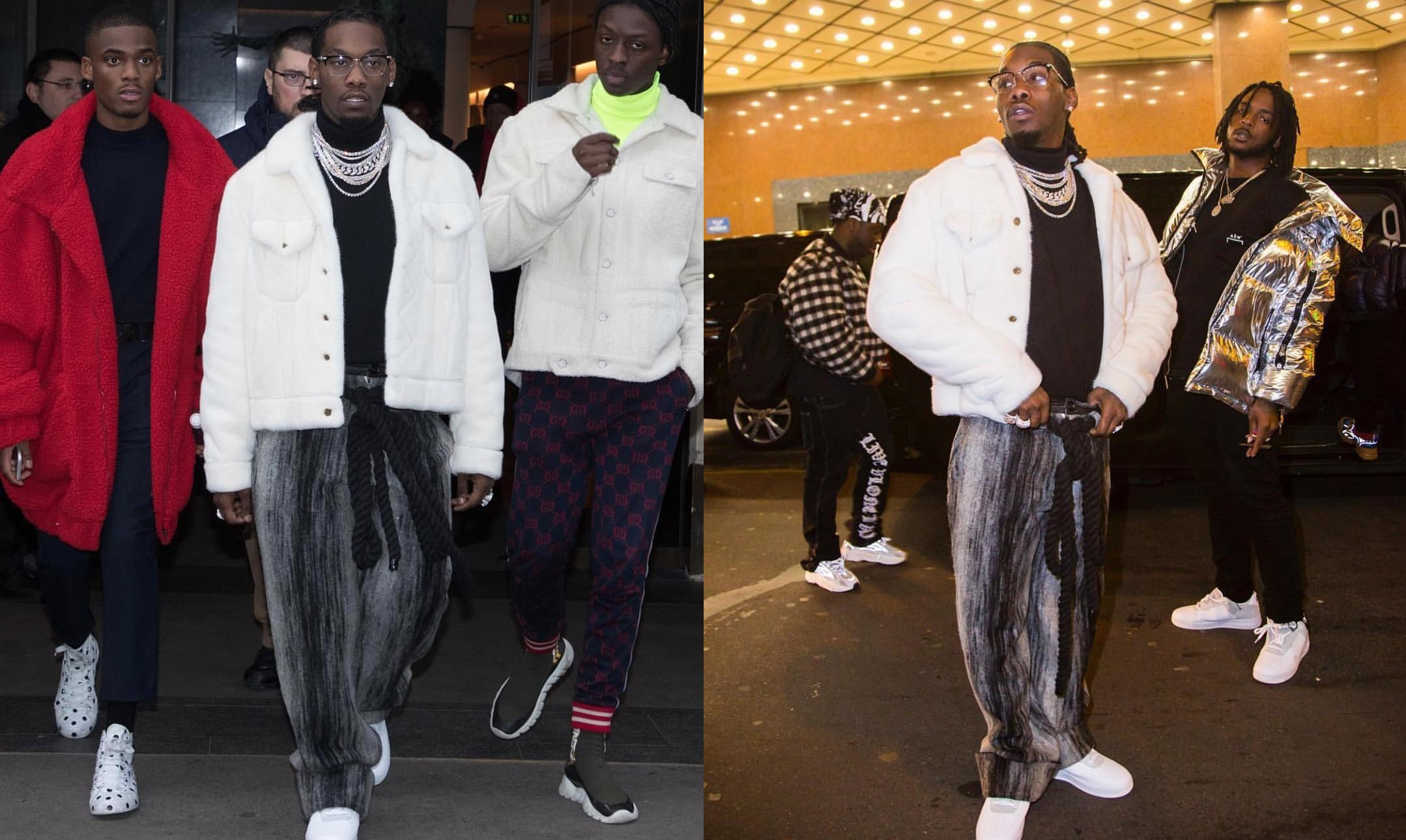 SPOTTED: Offset Steps Out in Paris with Nike x A-COLD-WALL*, Gunther Paris and Louis Vuitton