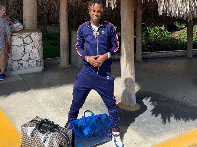 SPOTTED: Rich The Kid Shows Off His Goyard & Louis Vuitton by Virgil Abloh SS19 Bags