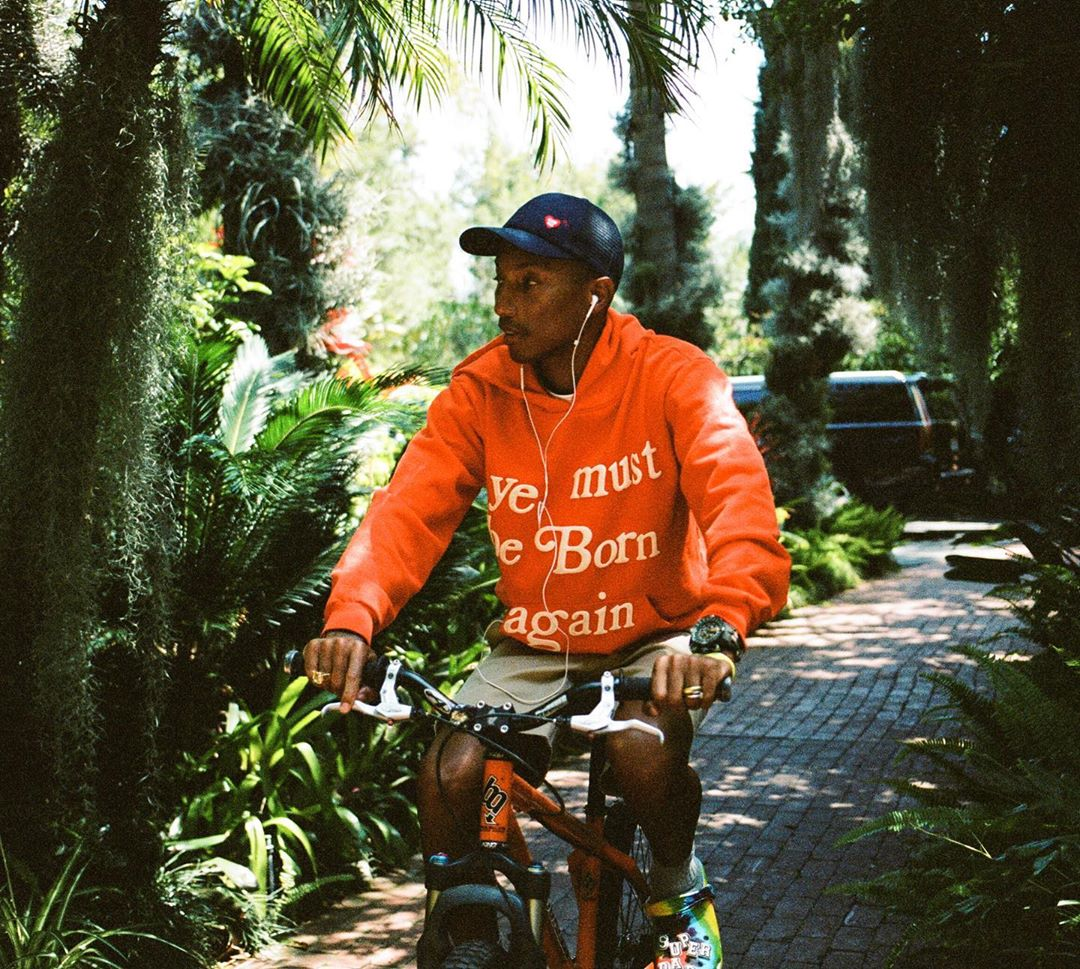 SPOTTED: Pharrell Williams Goes Cycling in Cactus Plant Flea Market