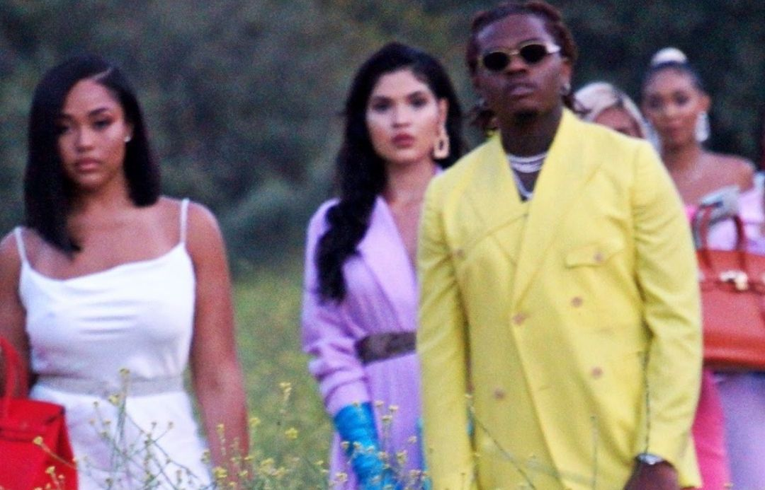 SPOTTED: Gunna Flexes in Stylish Pastel Double Breasted Suit