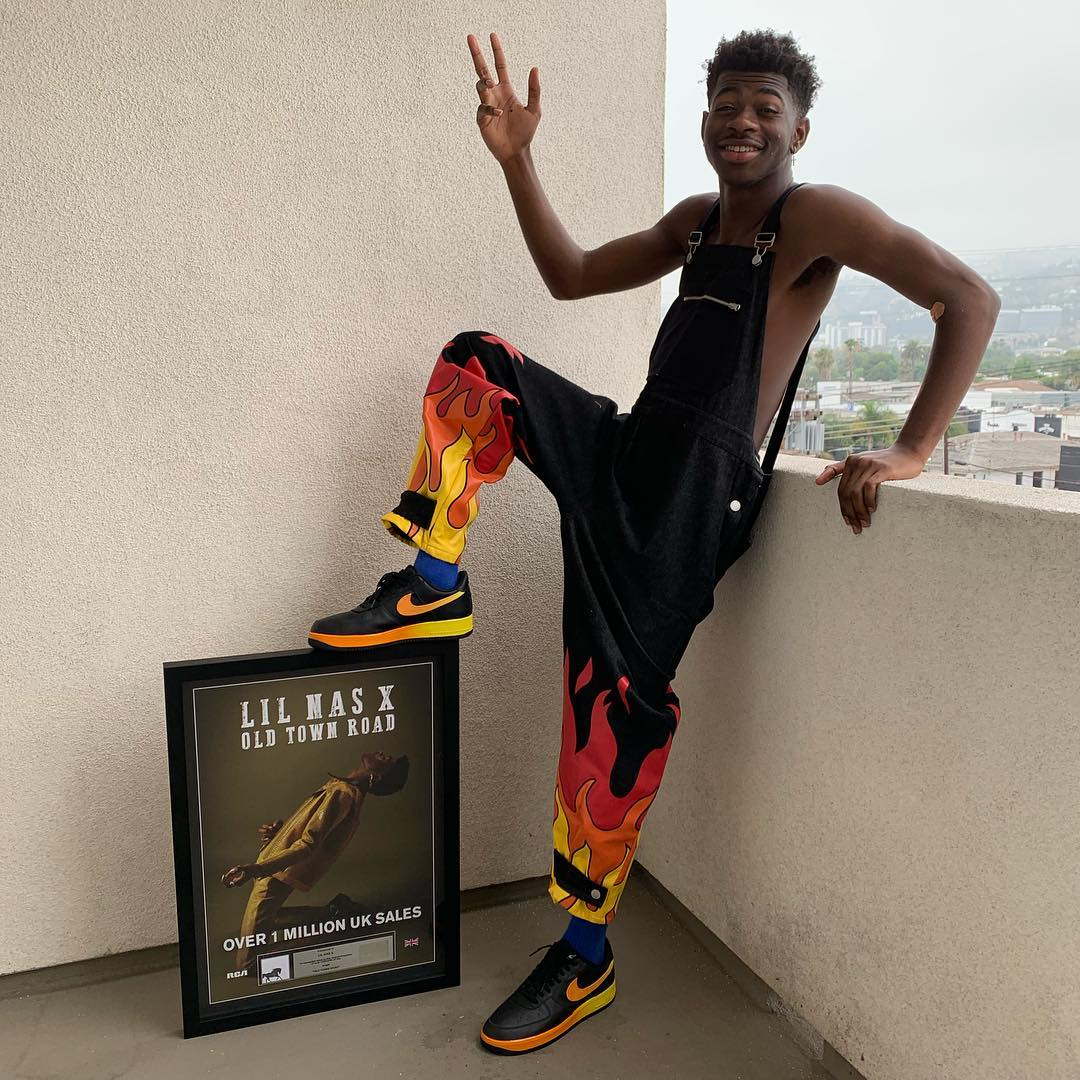 SPOTTED: Lil Nas X Celebrates 1 Million UK Sales in Bobby Abley & Nike