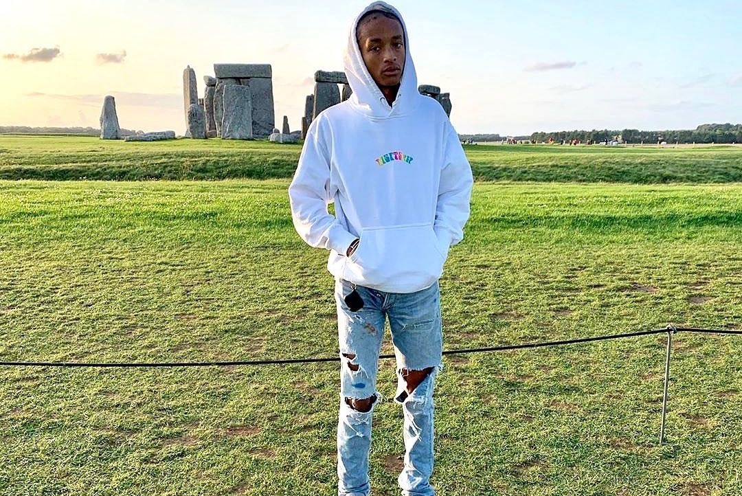 SPOTTED: Jaden Smith Stops By Stonehenge in MisFit Merch & New Balances